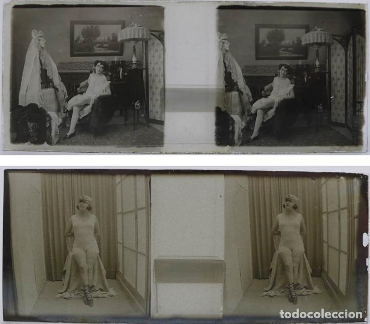 Fotografía antigua: Fotografías eróticas artísticas - Colección 64 fotografías estereoscópicas - Ca.1900 - Foto 8 - 142334502
