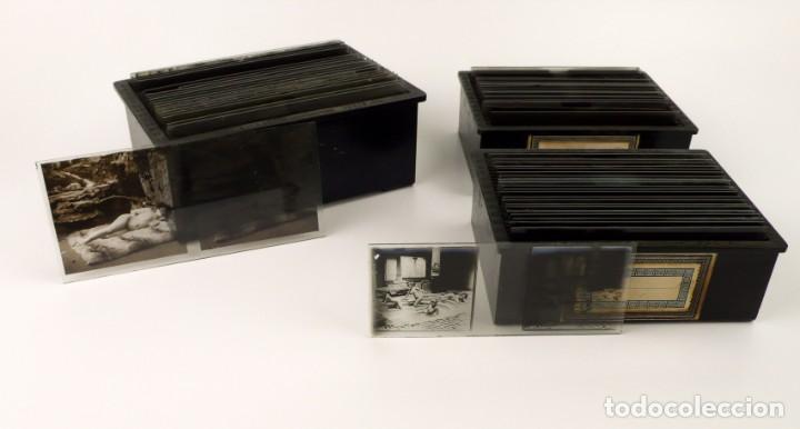 Fotografía antigua: Fotografías eróticas artísticas - Colección 64 fotografías estereoscópicas - Ca.1900 - Foto 9 - 142334502