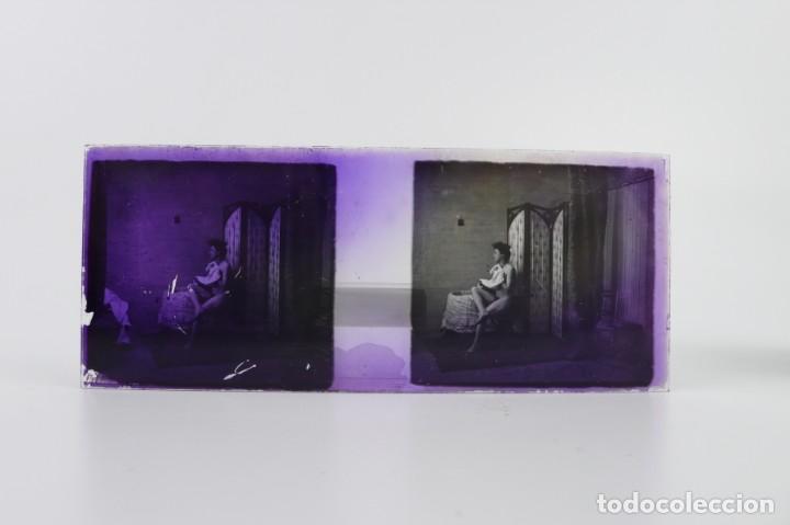 Fotografía antigua: Fotografías eróticas artísticas - Colección 64 fotografías estereoscópicas - Ca.1900 - Foto 16 - 142334502