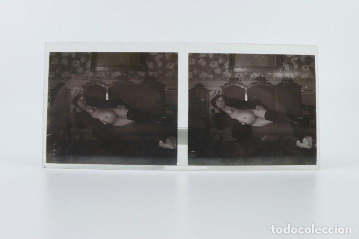 Fotografía antigua: Fotografías eróticas artísticas - Colección 64 fotografías estereoscópicas - Ca.1900 - Foto 37 - 142334502
