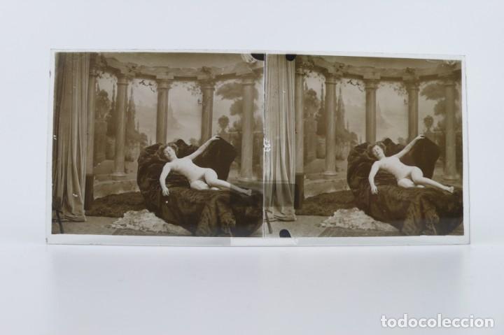 Fotografía antigua: Fotografías eróticas artísticas - Colección 64 fotografías estereoscópicas - Ca.1900 - Foto 48 - 142334502