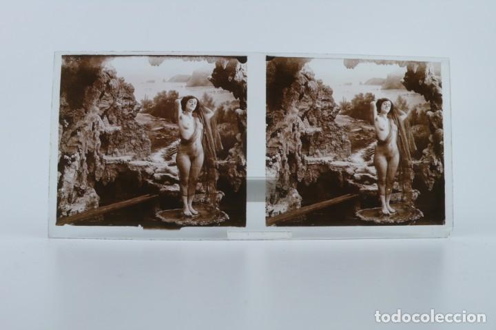 Fotografía antigua: Fotografías eróticas artísticas - Colección 64 fotografías estereoscópicas - Ca.1900 - Foto 49 - 142334502