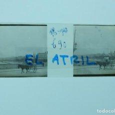 Fotografía antigua: YECLA, MURCIA - VISTA - POSITIVO EN CRISTAL ESTEREOSCOPICO - AÑOS 1900-10. Lote 142430994
