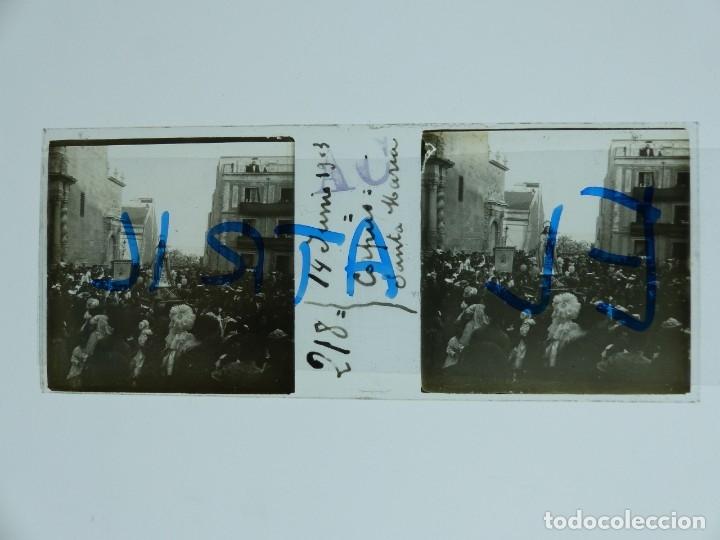 MURCIA - CORPUS, SANTA MARIA - POSITIVO EN CRISTAL ESTEREOSCOPICO - AÑO 1903 (Fotografía Antigua - Estereoscópicas)