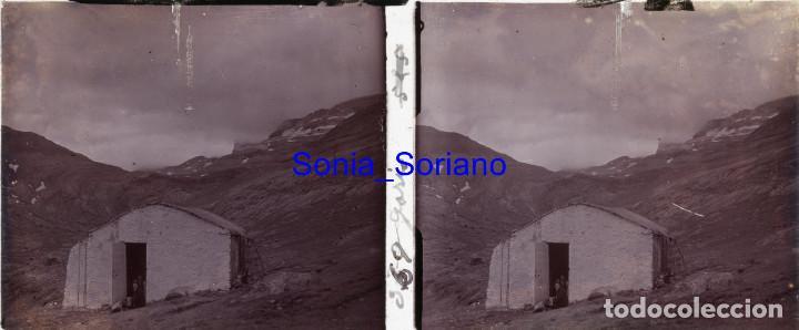 PIRINEO CATALAN GARÓS? - CRISTAL POSITIVO ESTEREOSCOPICO, PRINCIPIO DE 1900 - 20 (Fotografía Antigua - Estereoscópicas)