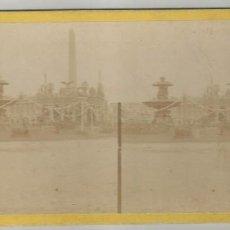 Fotografía antigua: 2 ESTEREOSCOPICAS PARIS Y VERSALLES-FINALES DE SIGLO XIX. Lote 143089134