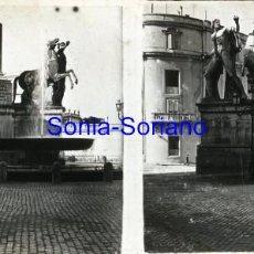 Fotografía antigua: ROMA. PLAZA DEL QUIRINALE - CRISTAL POSITIVO ESTEREOSCOPICO PRINCIPIO DE 1900 - 20. Lote 143753442
