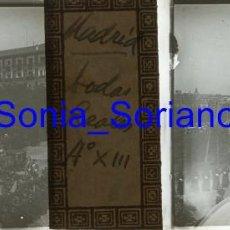 Fotografía antigua: MADRID, ALFONSO XIII. BODAS REALES - CRISTAL POSITIVO ESTEREOSCOPICO - 31-5-1906. Lote 143777270