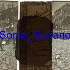Fotografía antigua: MADRID, CARRERA S. JERONIMO. ALFONSO XIII. BODAS REALES - CRISTAL POSITIVO ESTEREOSCOPICO. AÑO 1906. Lote 143777650