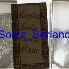Fotografía antigua: MADRID, ALFONSO XIII. BODAS REALES - CRISTAL POSITIVO ESTEREOSCOPICO. 31 DE MAYO DE 1906. Lote 143777714