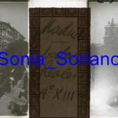Fotografía antigua: MADRID, ALFONSO XIII. BODAS REALES - CRISTAL POSITIVO ESTEREOSCOPICO. 31 DE MAYO DE 1906. Lote 143777762