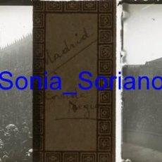 Fotografía antigua: MADRID, CORRIDA REGIA TOROS DIA BODA ALFONSO XIII. BODAS REALES - CRISTAL POSITIVO ESTEREO. 1906. Lote 143778214