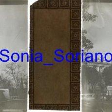 Fotografía antigua: MADRID, PLAZA DE ORIENTE, MONUMENTO FELIPE IV - CRISTAL POSITIVO ESTEREOSCOPICO. AÑO 1906. Lote 143778538