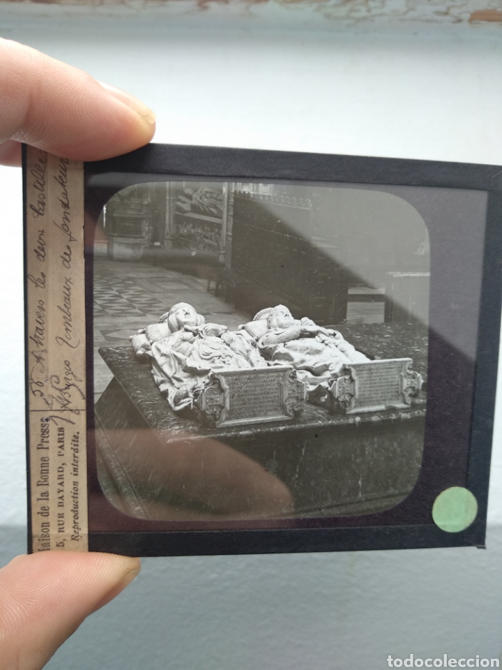 Fotografía antigua: Placa de cristal para linterna mágica principios del siglo XX Burgos - Foto 2 - 143802068