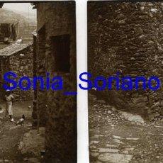 Fotografía antigua: MONTSERRAT, BARCELONA? CRISTAL ESTEREOSCOPICO - PRINCIPIO 1900. Lote 143926926