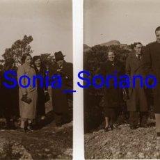 Fotografía antigua: MONTSERRAT, BARCELONA, RUTA SAN JERONIMO?- CRISTAL ESTEREOSCOPICO - PRINCIPIO 1900. Lote 143928334