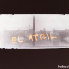 Fotografía antigua: ALICANTE AVION - NEGATIVO EN CRISTAL ESTEREOSCOPICO - AÑOS 1920. Lote 144131174