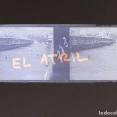 Fotografía antigua: ALICANTE BAÑOS - NEGATIVO EN CRISTAL ESTEREOSCOPICO - AÑOS 1920. Lote 144132602