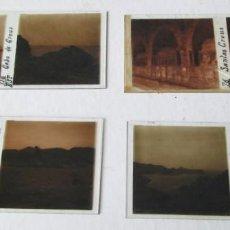 Fotografía antigua: 4 PLACAS ESTEREOSCÓPICAS CRISTAL DE 3 – CAVO CREUS 1 SANTA CREUS . Lote 144274450