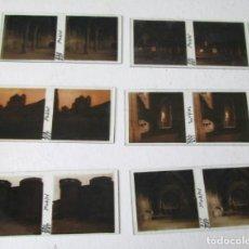Fotografía antigua: 6 PLACAS ESTEREOSCÓPICAS CRISTAL POBLET . Lote 144274682