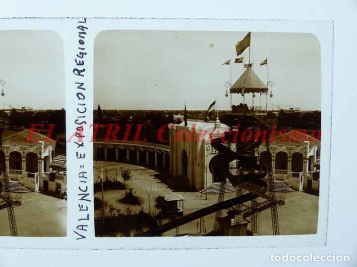 Fotografía antigua: VALENCIA EXPOSICION REGIONAL VALENCIANA AÑO 1909 - POSITIVO EN CRISTAL ESTEREOSCOPICO - Foto 2 - 144462050