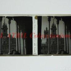 Fotografía antigua: VALENCIA TORRE DE SAN JUAN VISTA DESDE LA LONJA - POSITIVO EN CRISTAL ESTEREOSCOPICO - AÑOS 1920. Lote 144462430