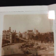 Fotografía antigua: ANTIGUA FOTOGRAFÍA DE CRISTAL ESTEREOSCOPICA. MADRID. PLAZA DE LA CIBELES. TRANVIA. Lote 146273260
