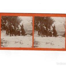 Old photograph - ESTEREOSCÓPICA.- GRUPO DE HOMBRES .- ( ESTUDIO FOTOGRÁFICO.- E. JORDÁ BLANES ALCOY, ALICANTE) - 146499014