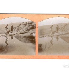 Old photograph - ESTEREOSCÓPICA.- GRUPO EXCURSIONISTAS.- ESTUDIO FOTOGRÁFICO.-(E. JORDÁ BLANES ALCOY, ALICANTE) - 146502762