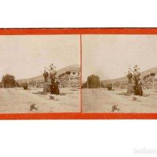 Fotografía antigua: ESTEREOSCÓPICA.- LABORES DEL CAMPO.- (E. JORDÁ BLANES ALCOY, ALICANTE). Lote 146510654