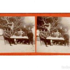 Fotografía antigua: ESTEREOSCÓPICA.- CELEBRACIÓN.- (E. JORDÁ BLANES ALCOY, ALICANTE). Lote 146520210