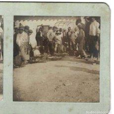 Fotografía antigua: ESTEREOSCÓPICA.- MERCADO.- VENTA DE PESCADO EN ALTEA.- (E. JORDÁ BLANES ALCOY, ALICANTE). Lote 146521674