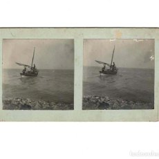 Old photograph - ESTEREOSCÓPICA.- PESCANDO EN ALTEA.- (E. JORDÁ BLANES ALCOY, ALICANTE) - 146521882