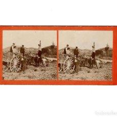 Fotografía antigua: ESTEREOSCÓPICA.- LABORES DEL CAMPO.- (E. JORDÁ BLANES ALCOY, ALICANTE). Lote 146522470