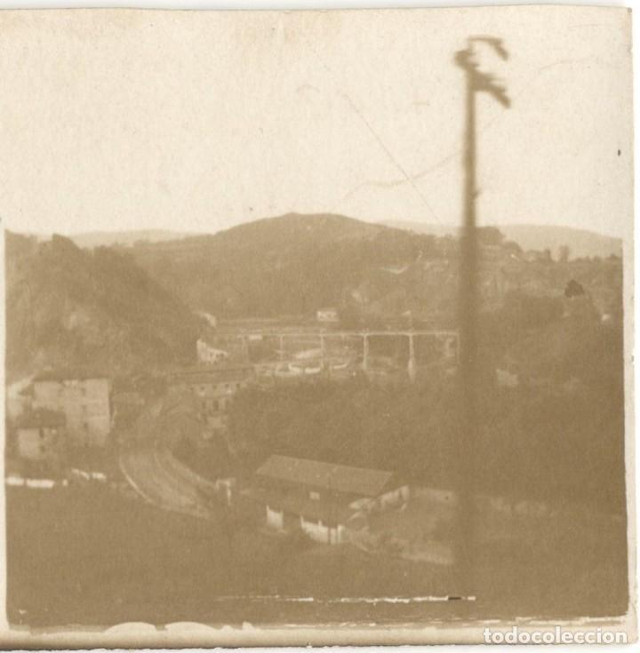 FOTOGRAFÍA ESTEREOSCÓPICA - DOS CAMINOS - VIZCAYA - AÑO 1923 (Fotografía Antigua - Estereoscópicas)