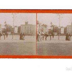 Fotografía antigua: ESTEREOSCÓPICA.- PLAZA (E. JORDÁ BLANES ALCOY, ALICANTE). Lote 146675234