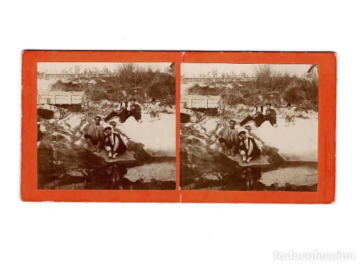 ESTEREOSCÓPICA.- PARAJE EN EL MOLINAR ALCOY (E. JORDÁ BLANES ALCOY, ALICANTE) (Fotografía Antigua - Estereoscópicas)
