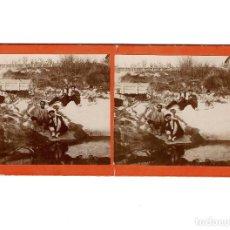Old photograph - ESTEREOSCÓPICA.- PARAJE EN EL MOLINAR ALCOY (E. JORDÁ BLANES ALCOY, ALICANTE) - 146675754