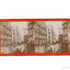 Fotografía antigua: ESTEREOSCÓPICA.- CALLE TIPICA EN ALCOY (E. JORDÁ BLANES ALCOY, ALICANTE). Lote 146678410