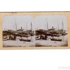 Old photograph - ESTEREOSCÓPICA.-VALENCIA.- PUERTO.(E.JORDÁ BLANES ALCOY, ALICANTE) - 146682622