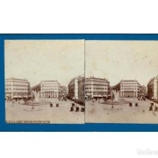 Fotografía antigua: ESTEREOSCÓPICA.- MADRID.- LA PUERTA DEL SOL. FOTÓGRAFO J. LAURENT.. Lote 147533174