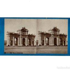 Fotografía antigua: ESTEREOSCÓPICA.- MADRID.- PUERTA DE ALCALÁ. FOTÓGRAFO J. LAURENT. . Lote 147538302