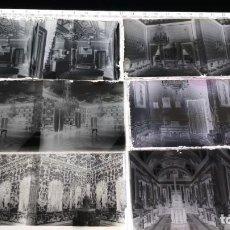 Fotografía antigua: CAJA CON 6 CRISTALES ESTEREOSCÓPICOS NEGATIVOS DEL INTERIOR DEL PALACIO REAL 1920 APROX VER FOTOS. Lote 147661490