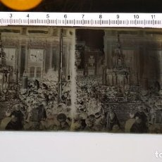 Fotografía antigua: CRISTAL ESTEREOSCÓPICO NEGATIVO PROCESION CORPUS CHRISTI SEVILLA APROX 1920 CUSTODIA DE JUAN DE ARFE. Lote 147661686