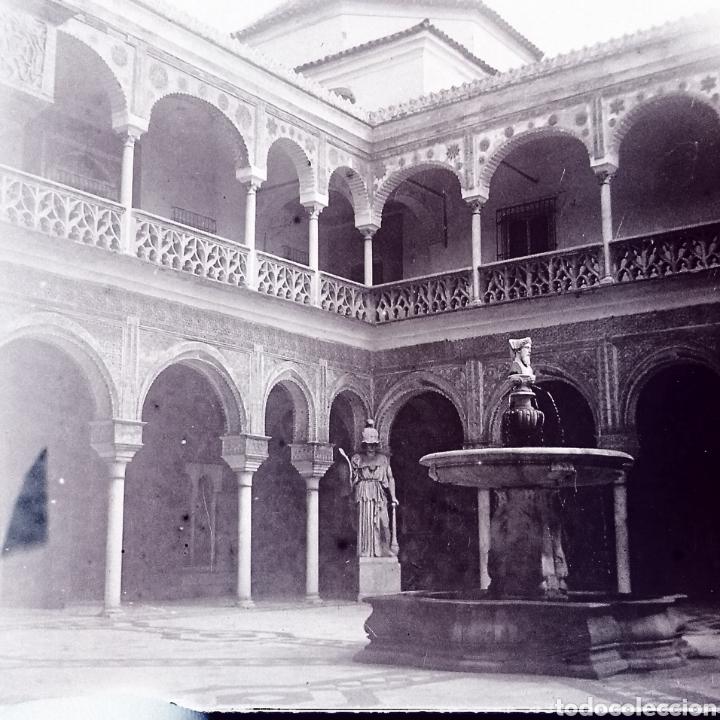 Fotografía antigua: Lote tres placas estereoscopicas del año 1900 Sevilla - Foto 6 - 147693256