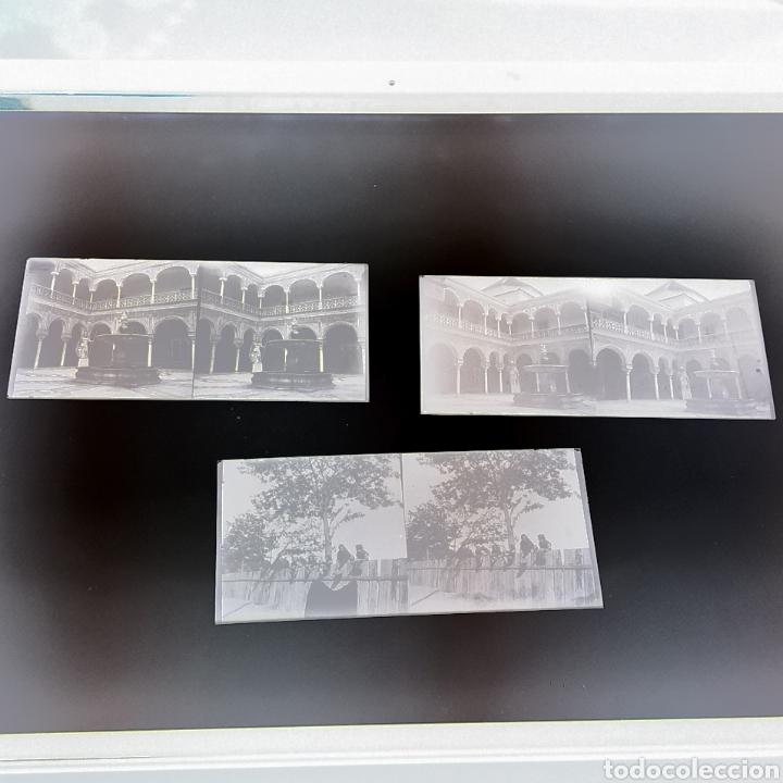 LOTE TRES PLACAS ESTEREOSCOPICAS DEL AÑO 1900 SEVILLA (Fotografía Antigua - Estereoscópicas)