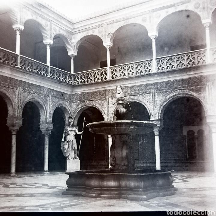 Fotografía antigua: Lote tres placas estereoscopicas del año 1900 Sevilla - Foto 2 - 147693256