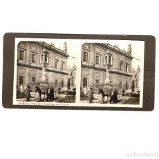 Fotografía antigua: ESTEREOSCÓPICA.- SEVILLA.- MONUMENTO DE LA PLAZA DEL TRIUNFO. Lote 147701878