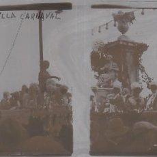 Fotografía antigua: SEVILLA.CAJA CON 19 FOTOGRAFÍAS ESTEREOSCÓPICAS DE CRISTAL. FERIA, CARNAVAL.... Lote 147979286