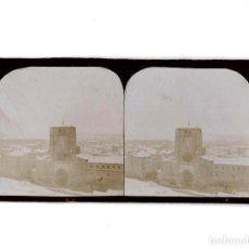 Fotografía antigua: ESTEREOSCÓPICA.- BURGOS.- SAN ESTEBAN. NEVADO EN 1901. Lote 148004258